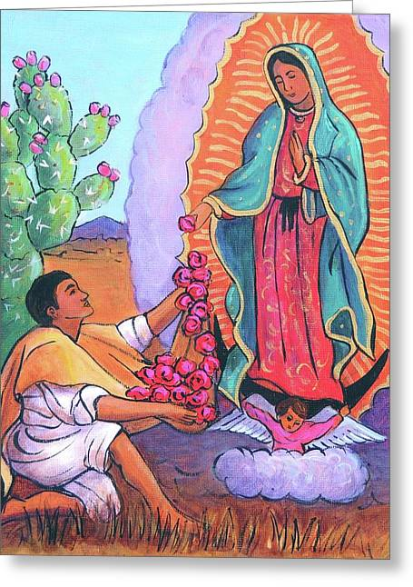 Guadalupe And Juan Diego Greeting Card