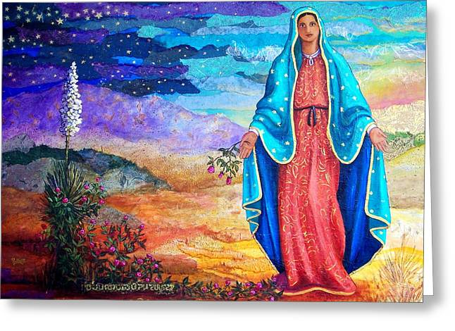 Guadalupe De La Frontera Greeting Card by Candy Mayer