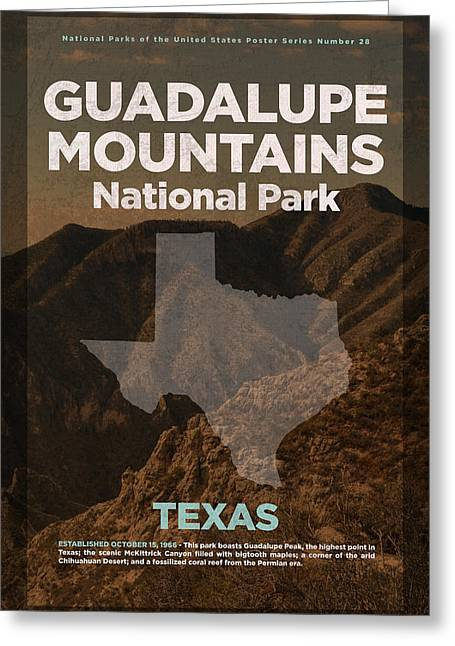 Guadalupe Mountains National Park In Texas Travel Poster Series Of National Parks Number 28 Greeting Card by Design Turnpike