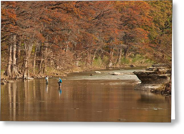 Guadalupe River Fly Fishing Greeting Card
