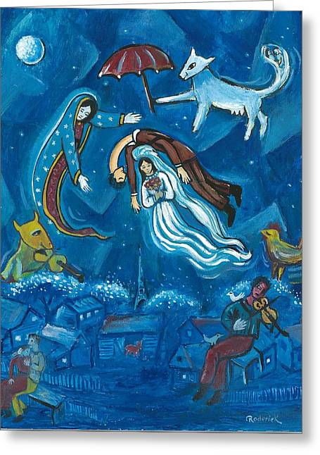 Guadalupe Visits Chagall Greeting Card