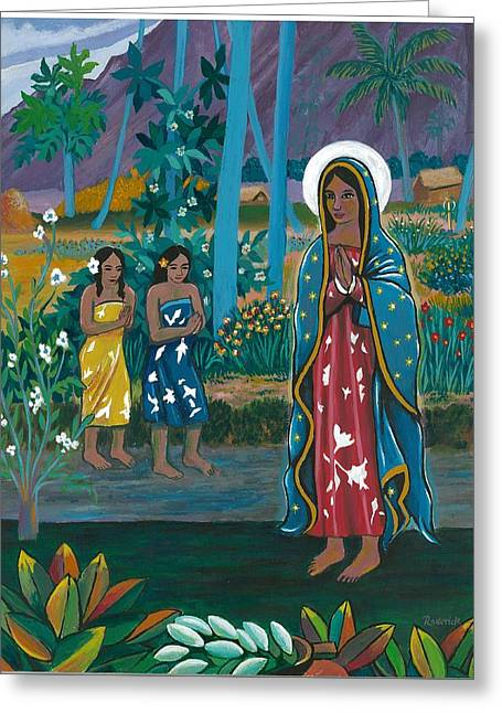 Guadalupe Visits Gauguin Greeting Card