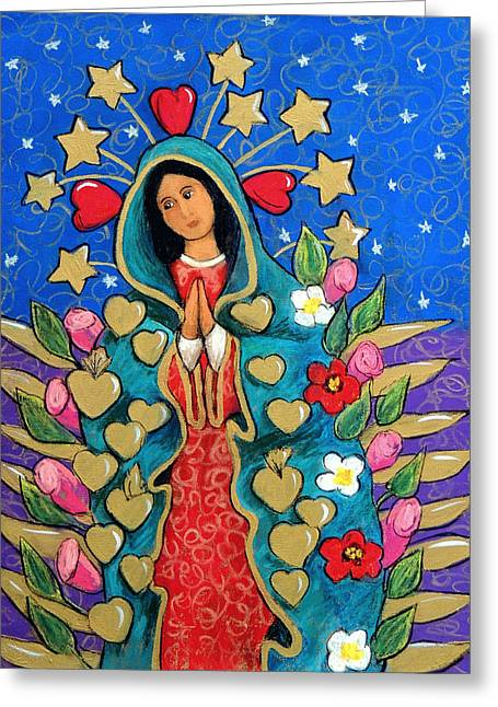 Guadalupe With Stars Greeting Card