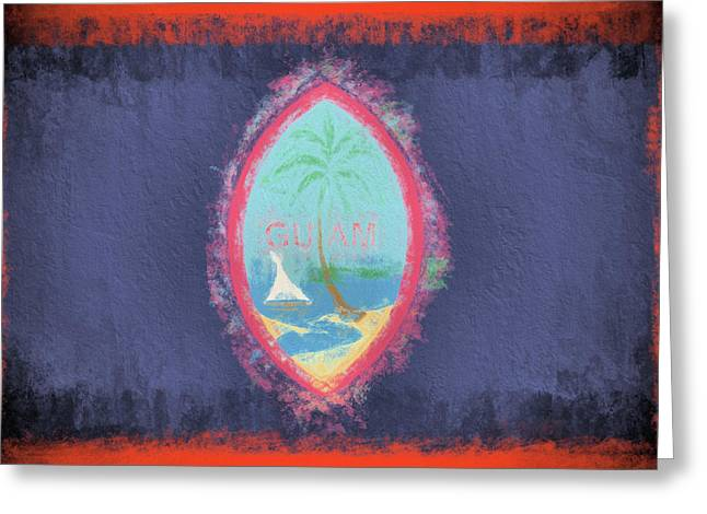 Greeting Card featuring the digital art Guam Flag by JC Findley