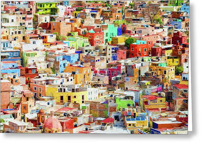Guanajuato 1, Mexico. Greeting Card by Rob Huntley