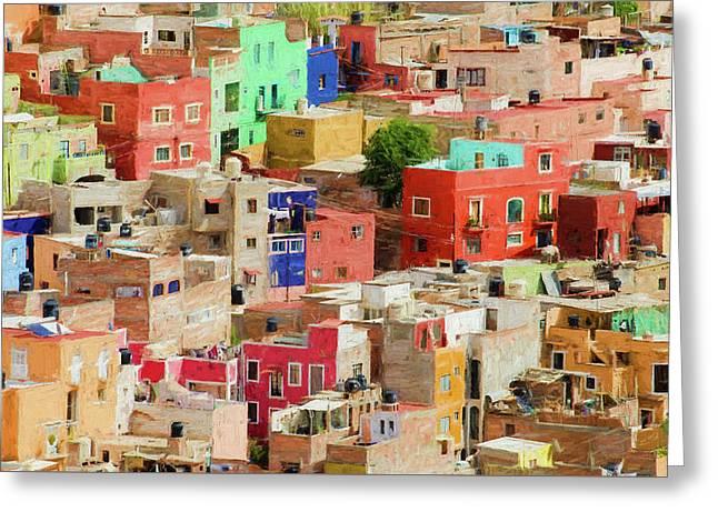 Guanajuato 3, Mexico. Greeting Card by Rob Huntley