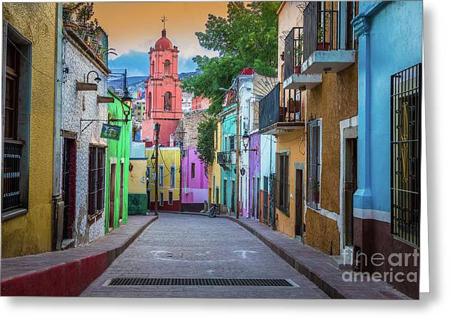 Guanajuato Backstreet Greeting Card