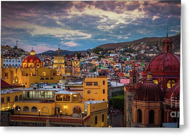 Guanajuato Evening Panorama Greeting Card