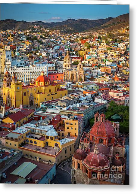 Guanajuato From Above Greeting Card