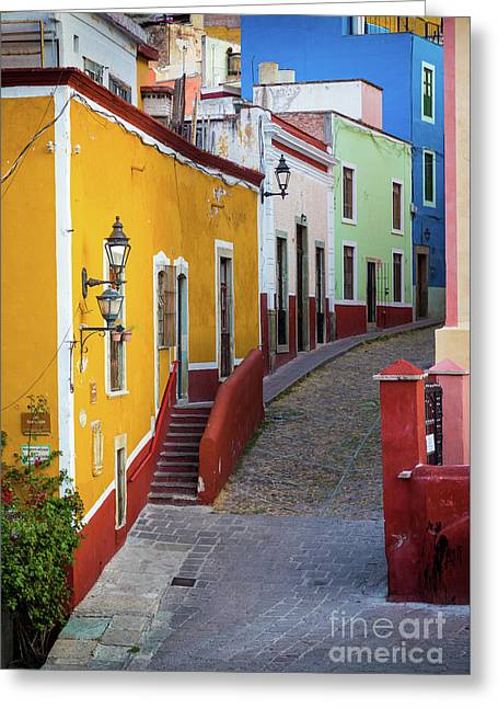 Guanajuato Street Greeting Card by Inge Johnsson