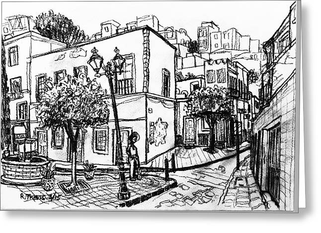 Guanajuato Street Greeting Card by Rich Travis