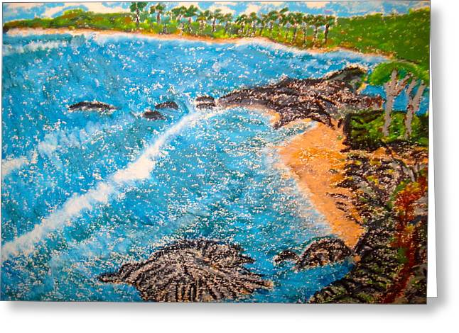Puerto Rico Pastels Greeting Cards - Guanica  P R      Greeting Card by Felix Zapata