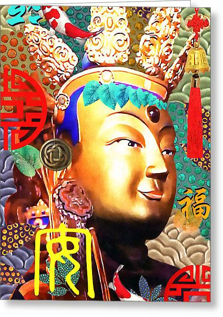 Guanyin Greeting Card by Stacey Chiew