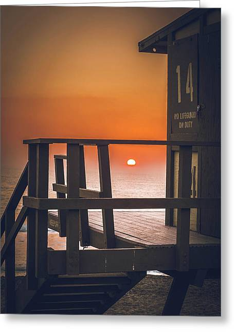 Guarded Sunset  Greeting Card by Colby Hart