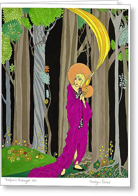 Guardian Angel Greeting Card by Carolynn Fischel