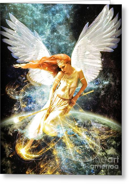 Guardian Angel Greeting Card by Connie Ens