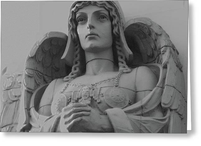 Guardian Angel On Watch Greeting Card