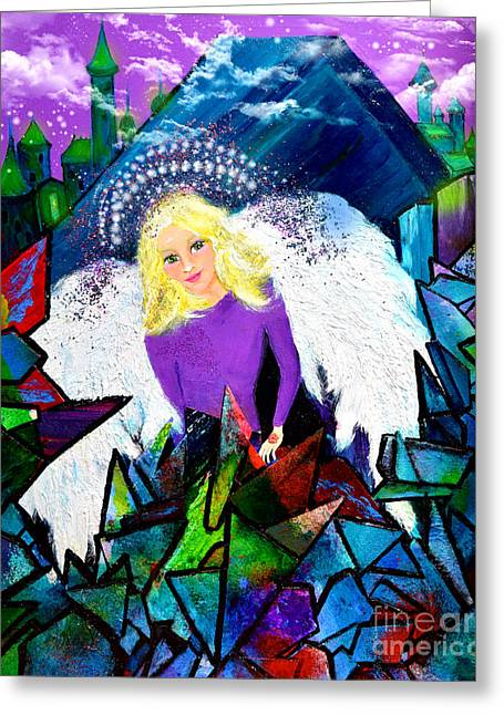 Guardian Angel Greeting Card by Patricia Motley