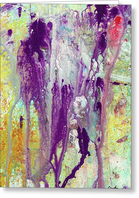 Guardian Angels - Colorful Spiritual Abstract Art Painting Greeting Card