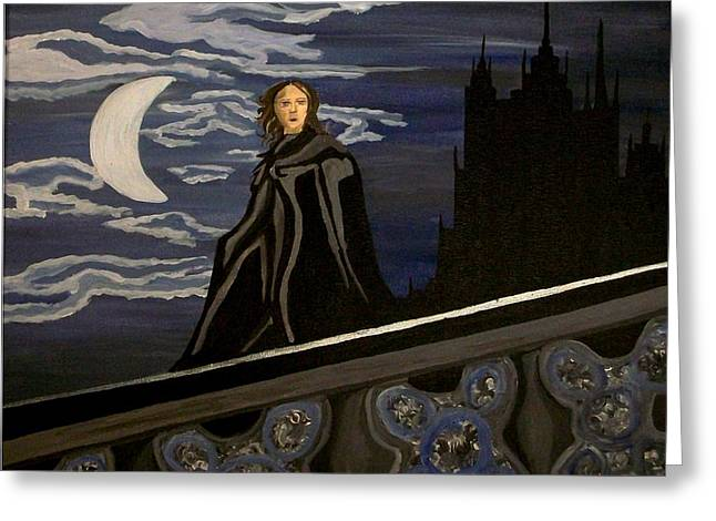 Greeting Card featuring the painting Guardian by Carolyn Cable