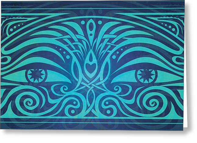 Symbolic Digital Art Greeting Cards - Guardian Gaze Greeting Card by Cristina McAllister