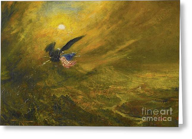 Guardian Of American Liberty Greeting Card by Celestial Images