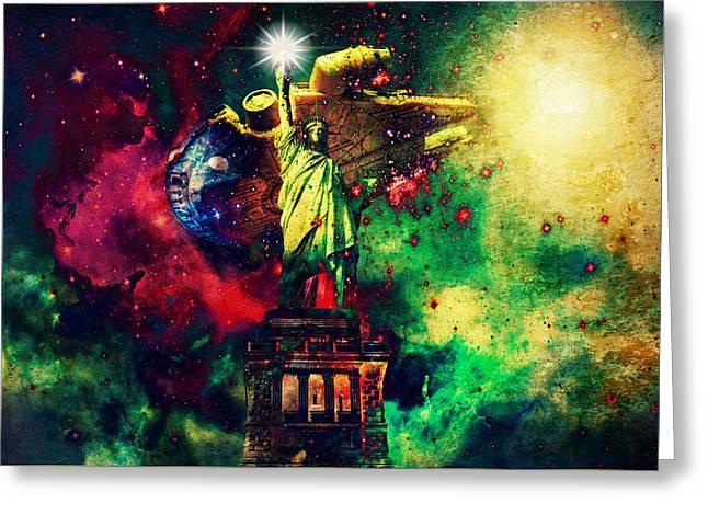 Guardians Of Freedom II Greeting Card by Aurelio Zucco