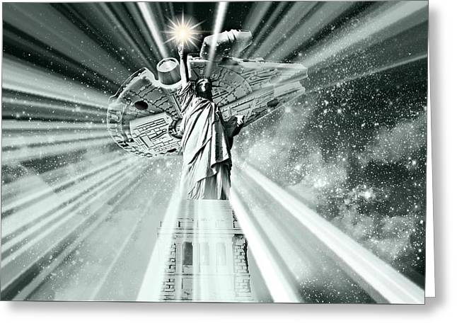 Guardians Of Freedom Iv Greeting Card by Aurelio Zucco