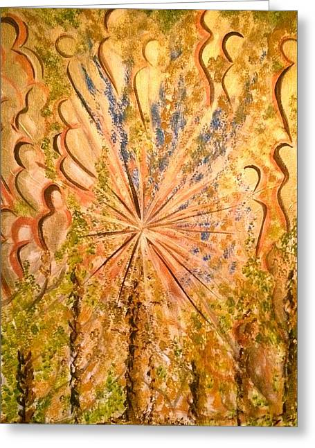 Guardians Of Light Greeting Card by Simran