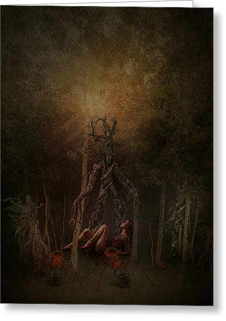 Guardians Of The Forest Greeting Card by Terry Fleckney