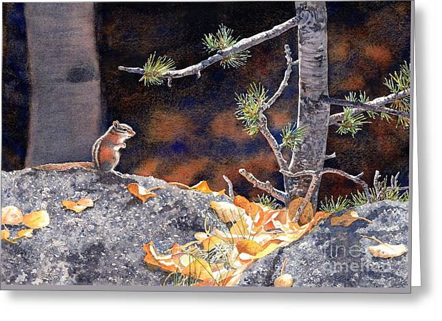 Guarding The Gold Greeting Card by Lorraine Watry