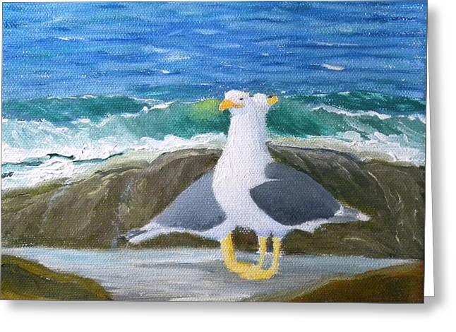 Guarding The Land And Sea Greeting Card