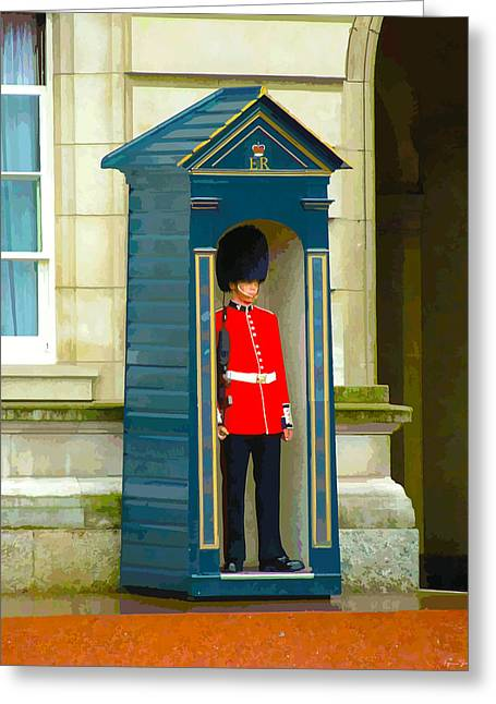 Guarding The Palace Greeting Card