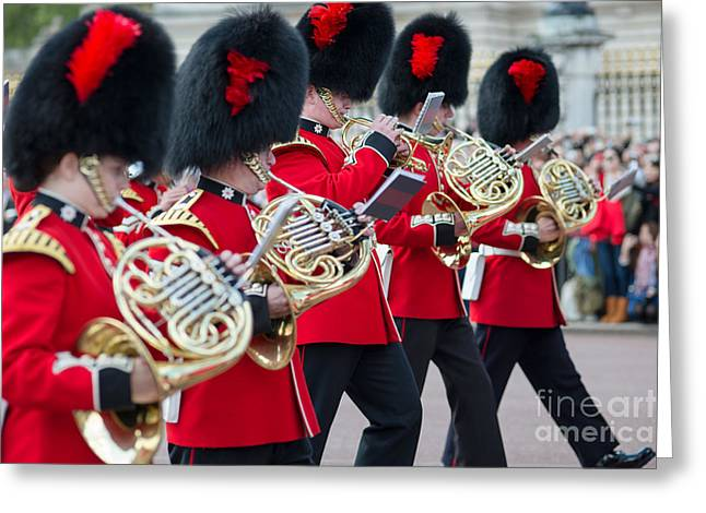 guards band at Buckingham palace Greeting Card