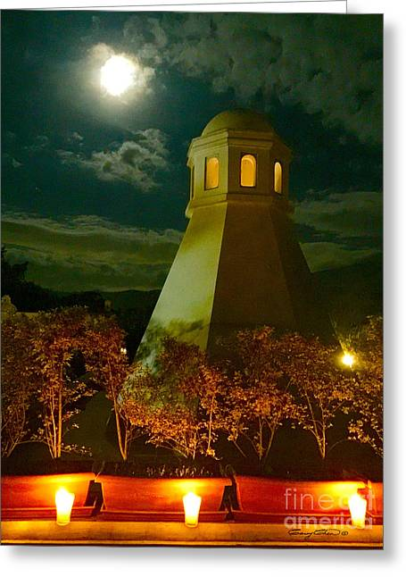Guatemala Night Greeting Card by Carey Chen