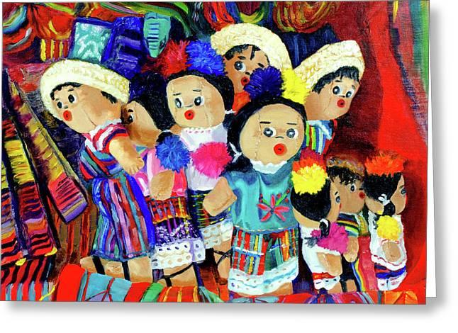Guatemalan Dolls Greeting Card