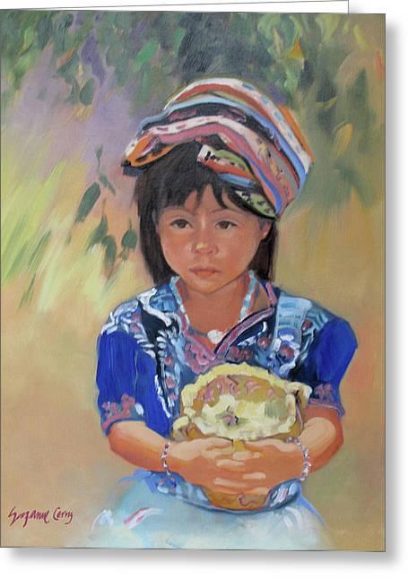 Guatemalan Girl Greeting Card
