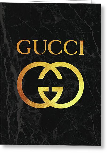 Gucci - Black And Gold Greeting Card