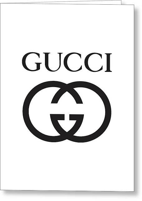 Gucci - Black And White Greeting Card