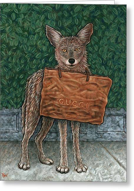 Gucci Coyote Greeting Card