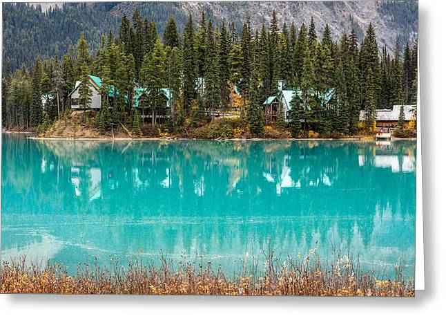 Greeting Card featuring the photograph Emerald Lake by Pierre Leclerc Photography