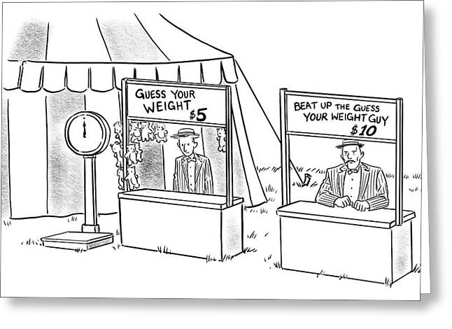 Guess Your Weight Greeting Card