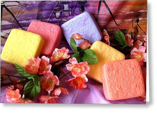 Guest Soaps Greeting Card by Sonja Anderson