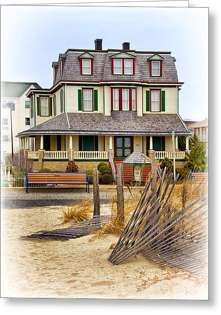 Guesthouse At The Beach Greeting Card by Carolyn Derstine