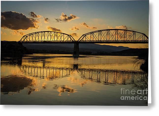 Guffey Bridge At Sunset Idaho Journey Landscape Photography By Kaylyn Franks Greeting Card