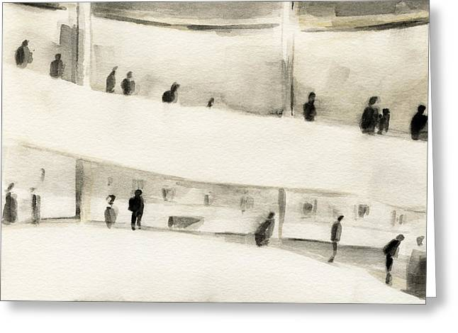 Guggenheim Inside Greeting Card by Beverly Brown