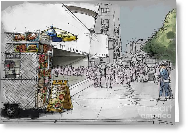 Guggenheim Museum New York Sketch Greeting Card by Pablo Franchi