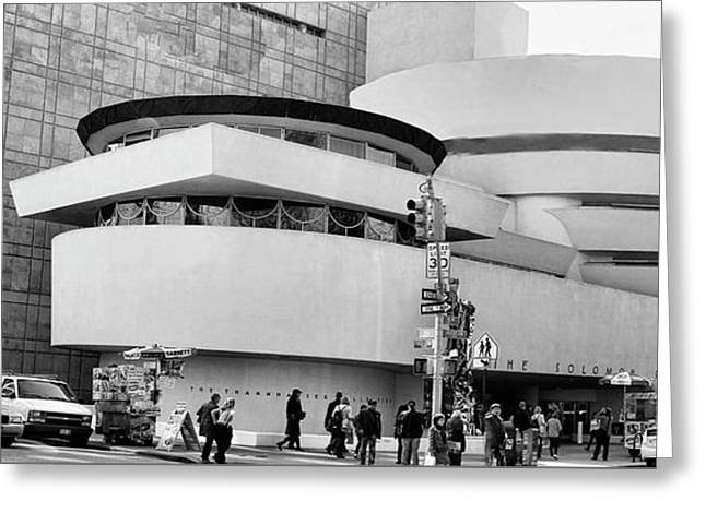 Guggenheim Museum Nyc Bw Greeting Card