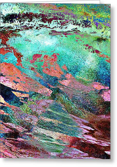 Guided By Intuition - Abstract Art - Triptych 2 Of 3 Greeting Card