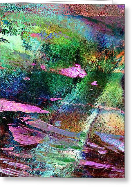 Guided By Intuition - Abstract Art - Triptych 3 Of 3 Greeting Card